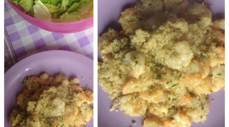 Pranzo Proteico Ricette : Pranzo o cena veloce con gamberetti e quinoa lamponerosso